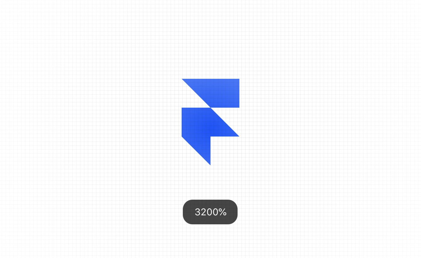 Framer allows zooming up to 3200%