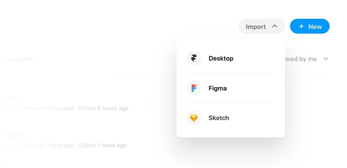 You can import your prototype from Figma