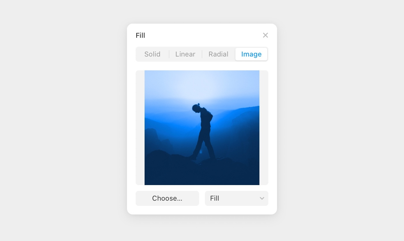 Apply an image fill to an element