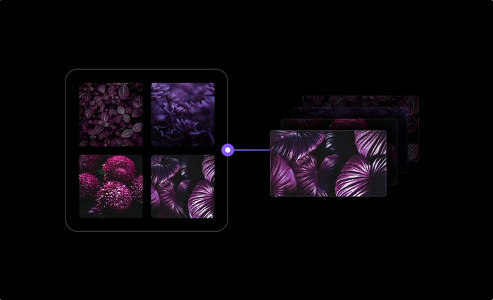 An example showing how you can connect this component to multiple images.