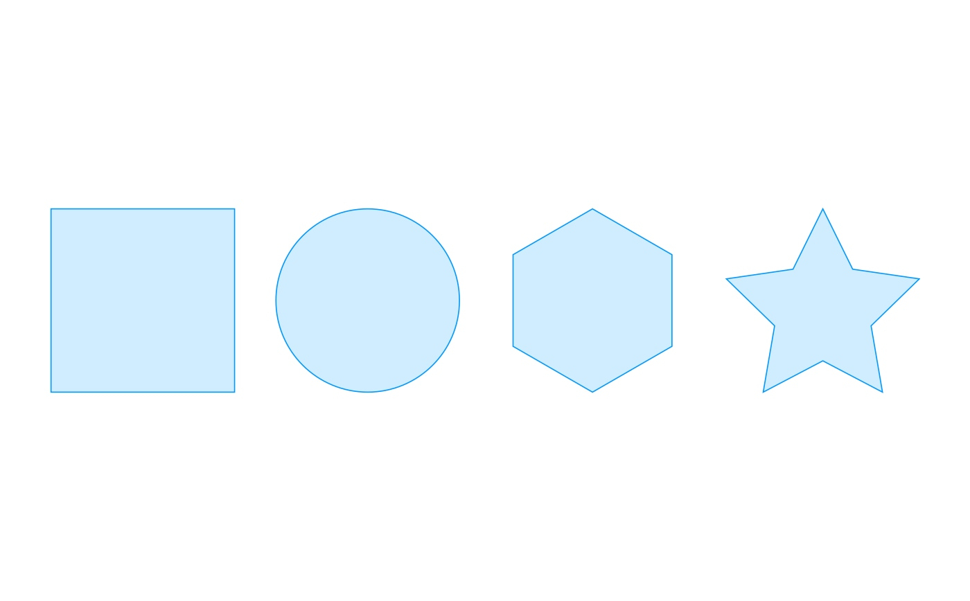 Various shapes to be drawn within a Graphics container