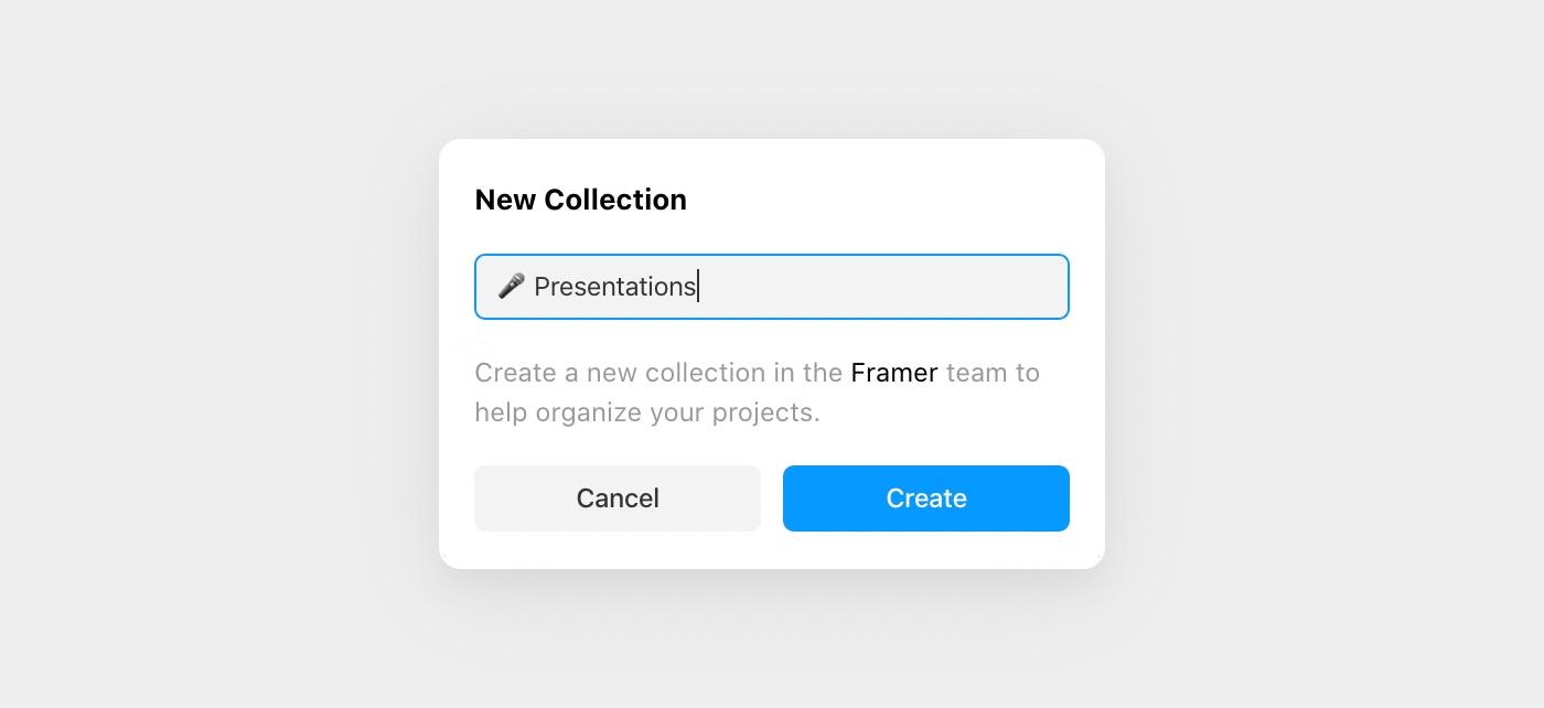 Creating and naming a folder