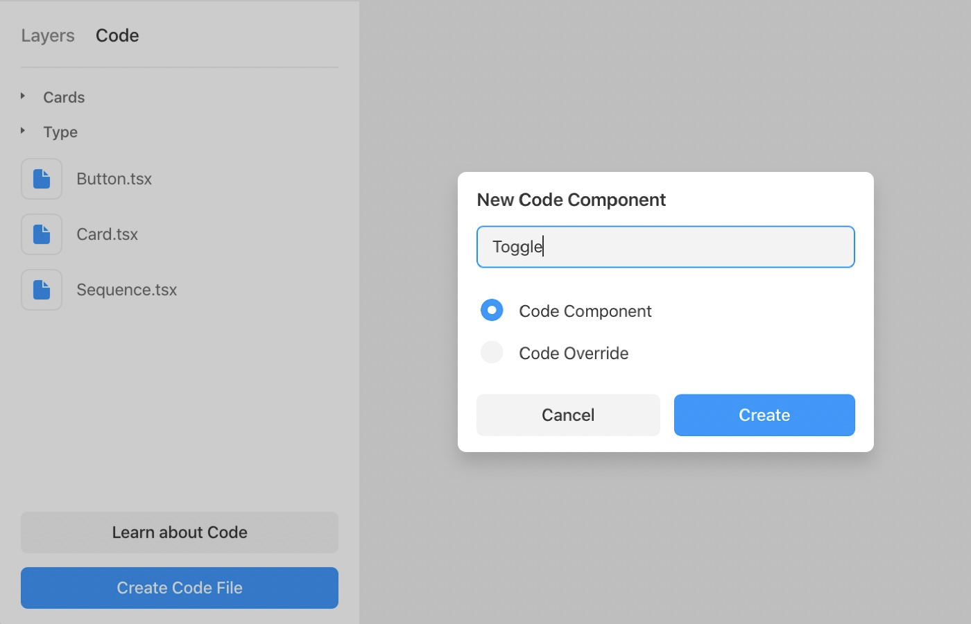 Creating a code component