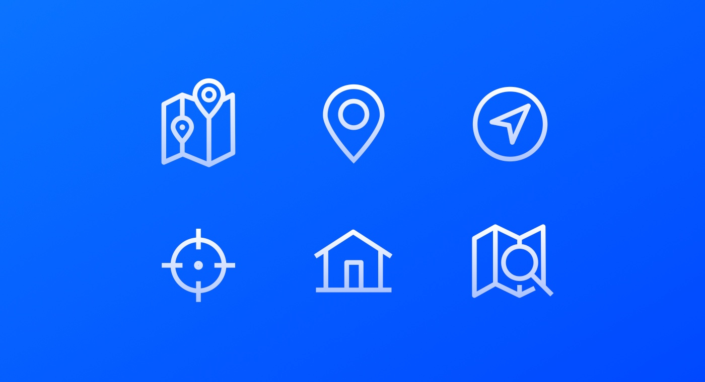 Visual showing location icons