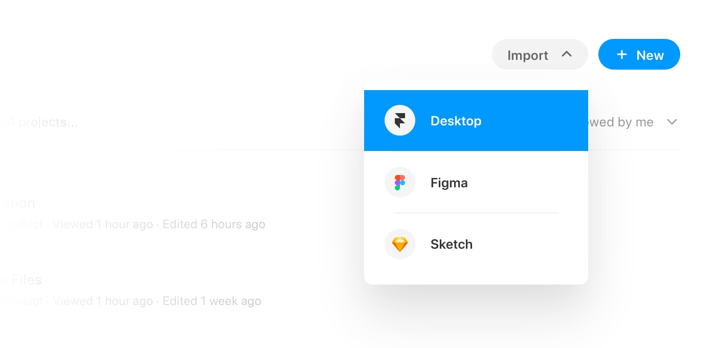 How to import your Framer desktop projects