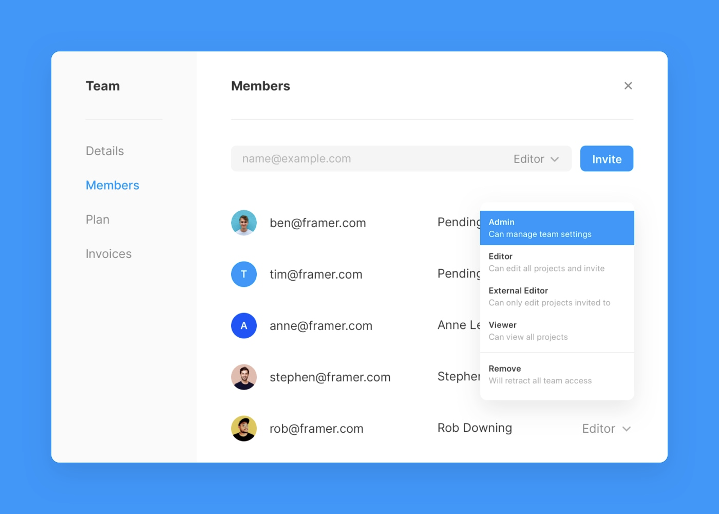 An overview of setting member roles