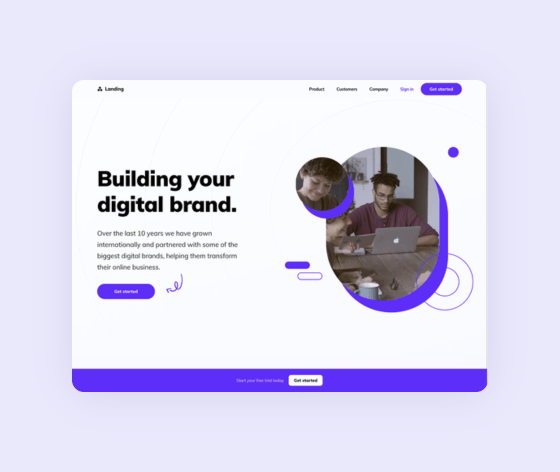 Template preview of Landing Page Kit