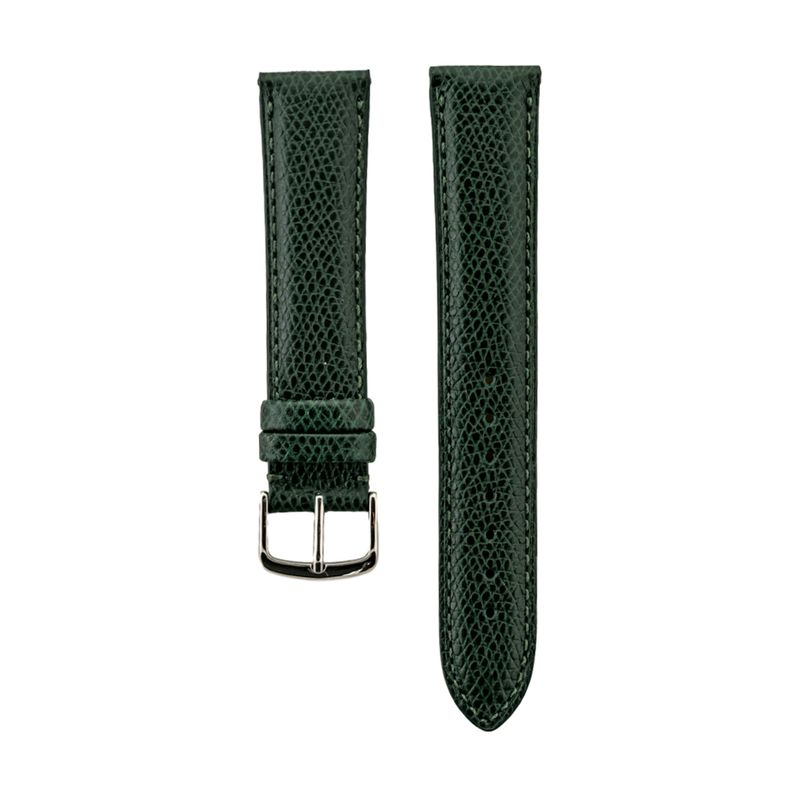 Green Hermes Grain Leather Strap