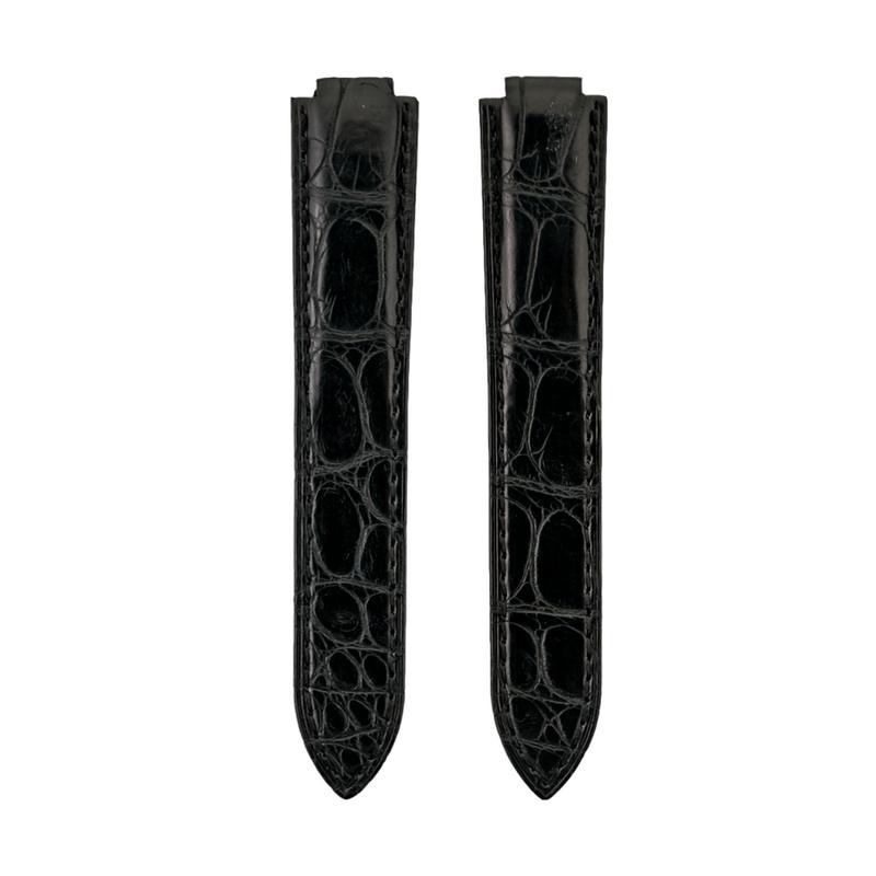 Cartier Ballon Black Genuine Alligator Semi-Matte Strap
