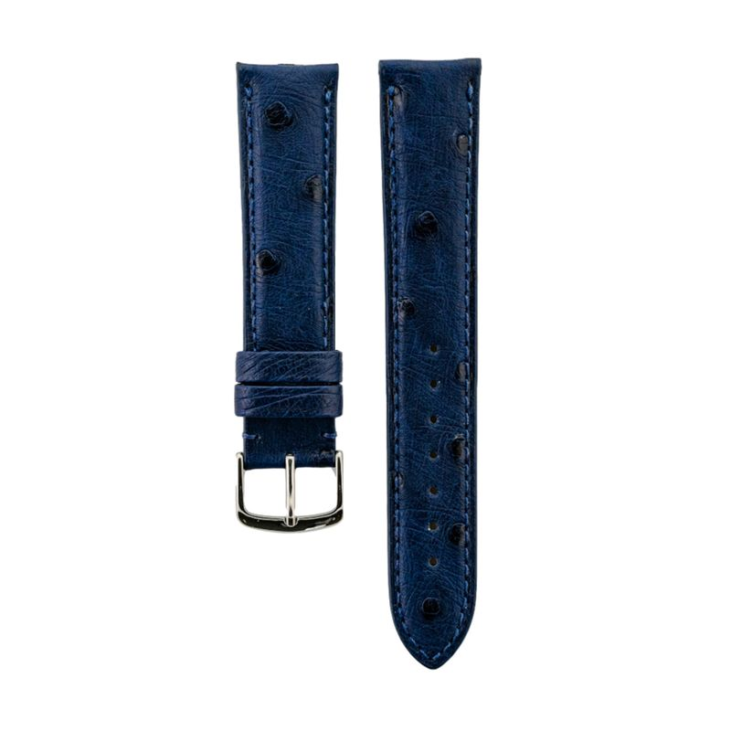 Blue Genuine Ostrich Strap