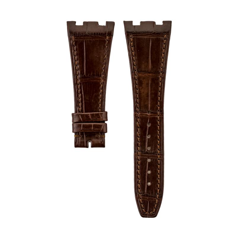 AP Royal Oak Brown Genuine Alligator Semi-Matte