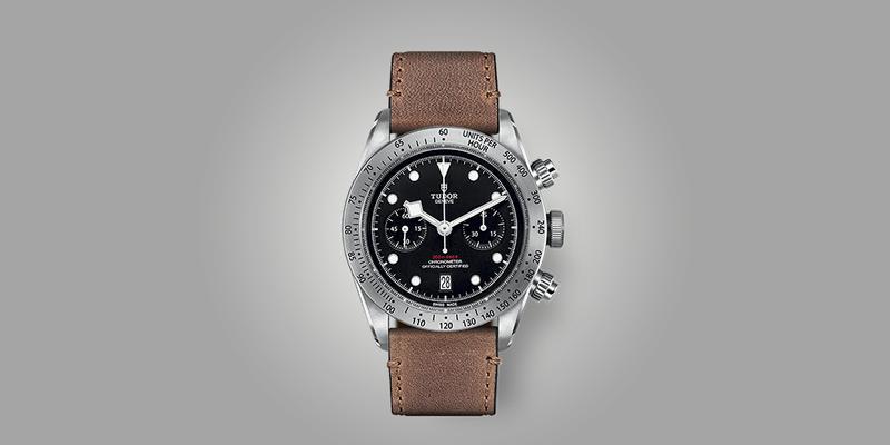 Tudor Black Bay Chronograph on leather strap