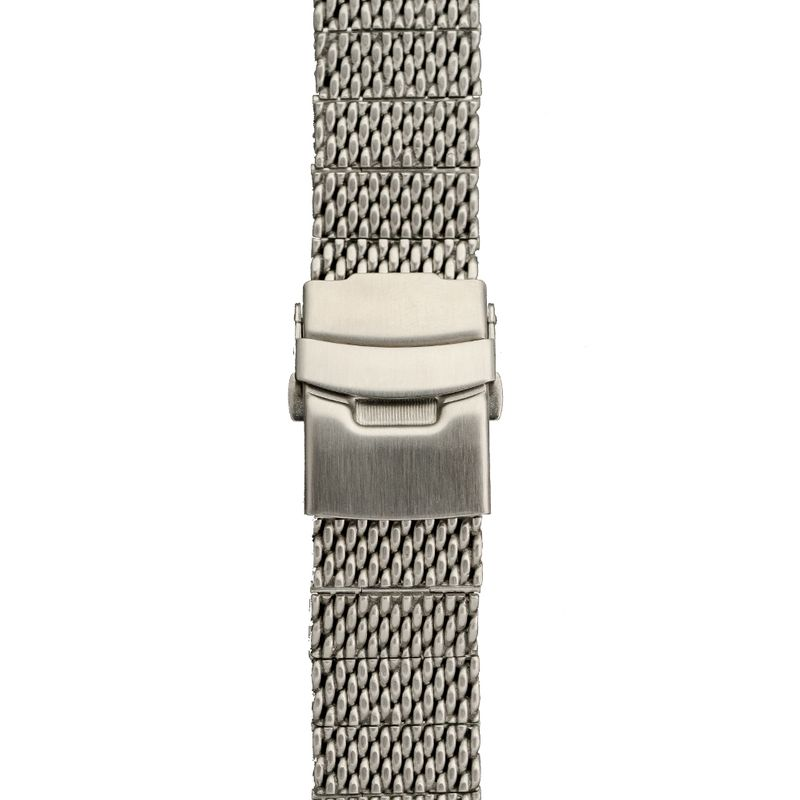 Stainless Steel Mesh Band Fold Over Clasp