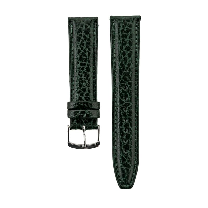 Green Shrunken Grain Genuine Italian Leather Strap