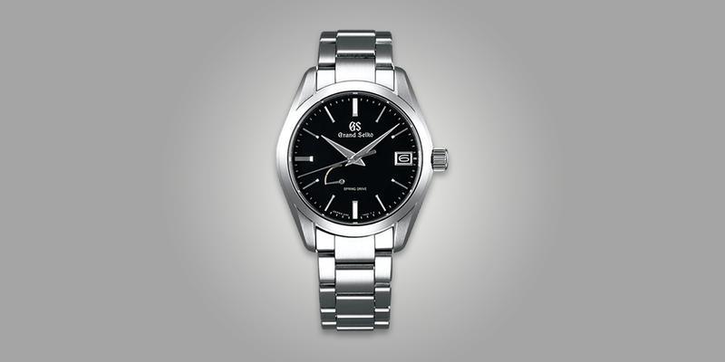 Grand Seiko SBGA285 Spring Drive Dress watch black dial on bracelet