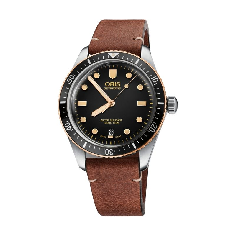 Divers Sixty-Five 40M Black Leather