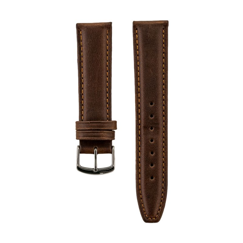 Brown Genuine Oil Tan Leather Strap