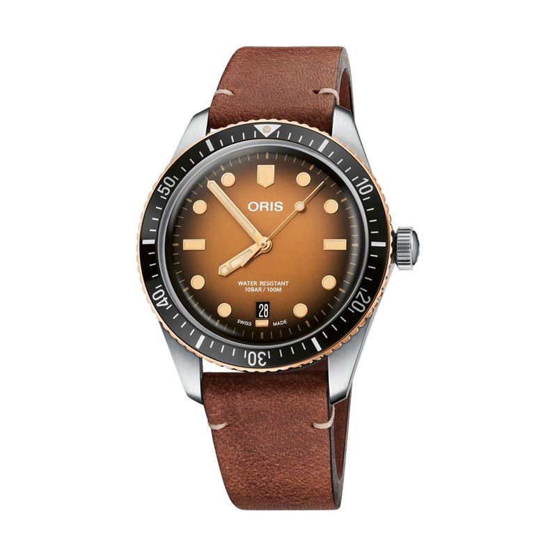 Divers Sixty-Five Steel/Bronze 40mm Brown Dial