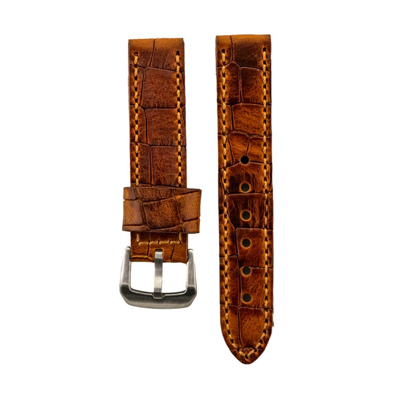 Tan Textured Genuine Oil Tan Leather Strap