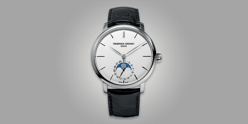 Frederique Constant Moonphase white dial leather strap