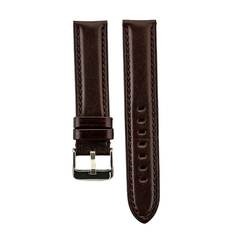 High Polished Brown Italian Leather Strap
