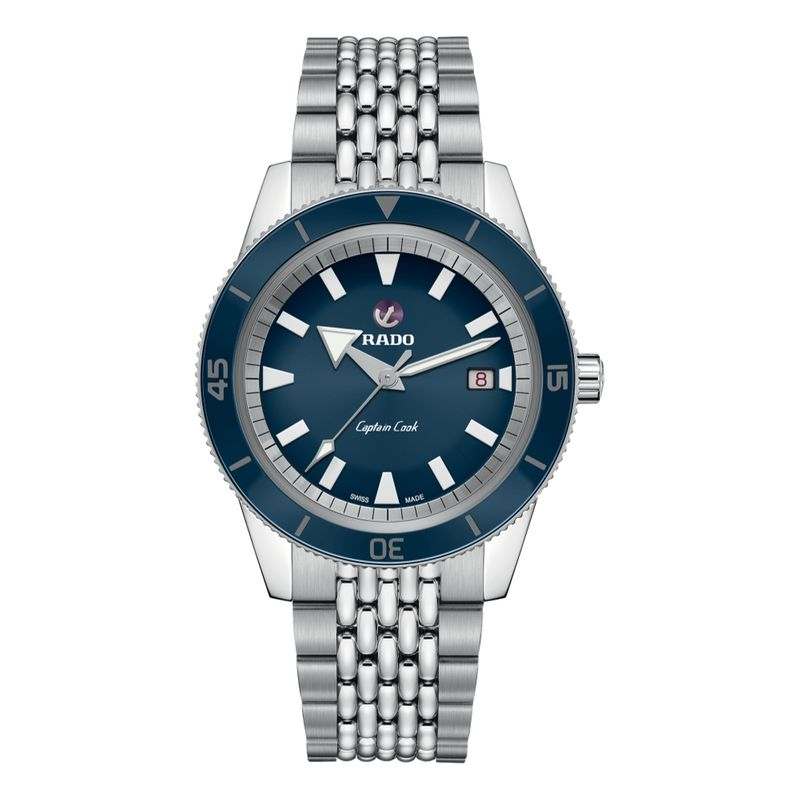 Captain Cook Automatic Blue Dial Beads of Rice Bracelet 42 mm