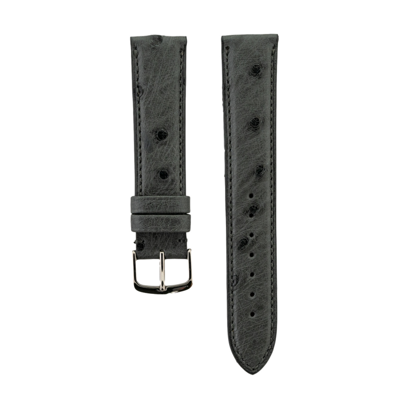 Grey Genuine Ostrich Strap