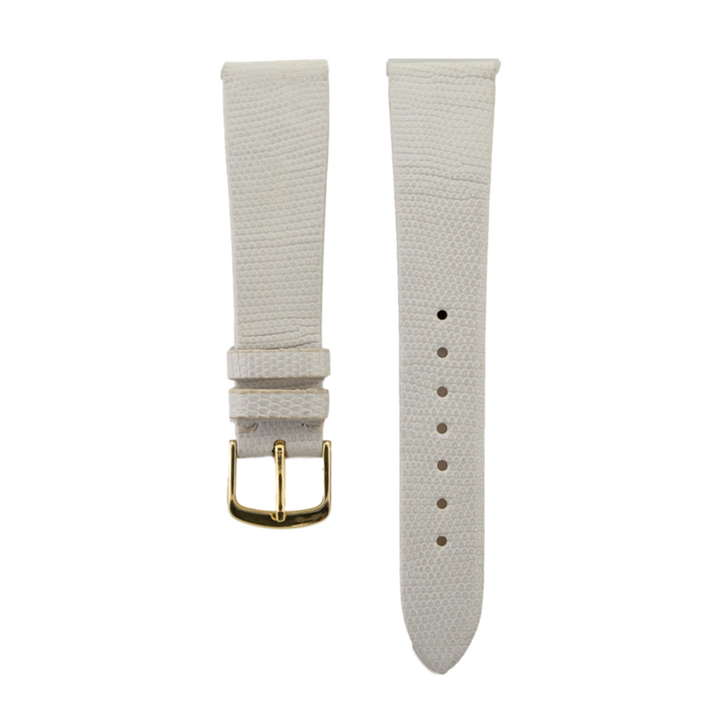 White Genuine Java Lizard Strap