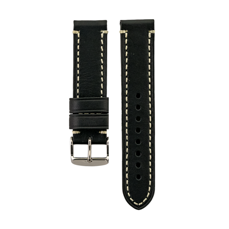 Black Genuine Vegetable Tanned Leather