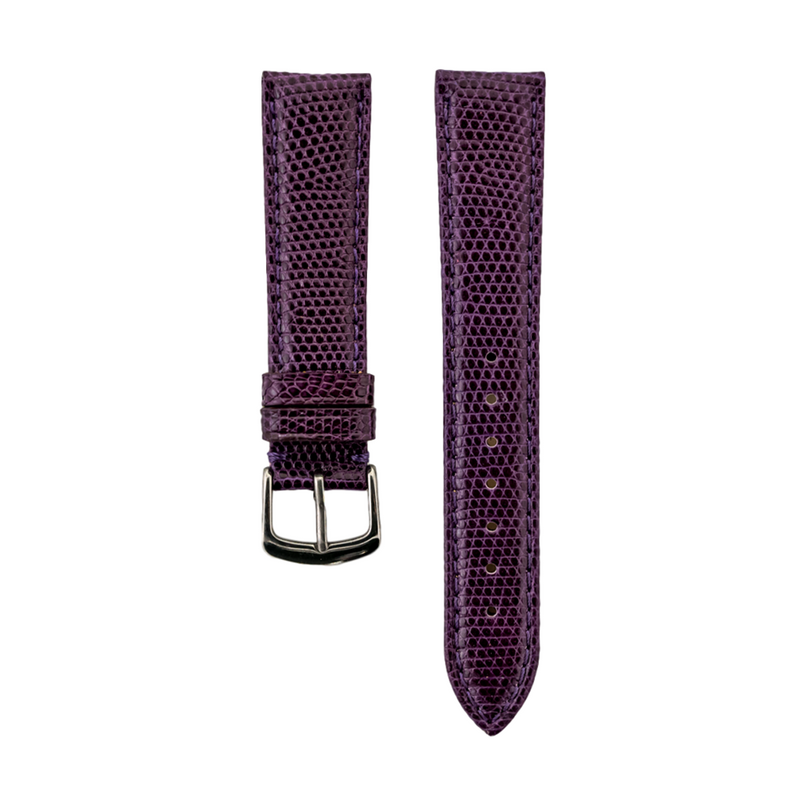 Purple Genuine Java Lizard Strap