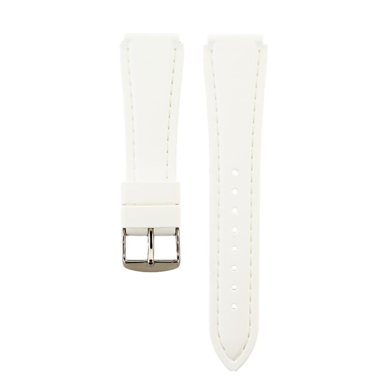 White Genuine Silicone Strap