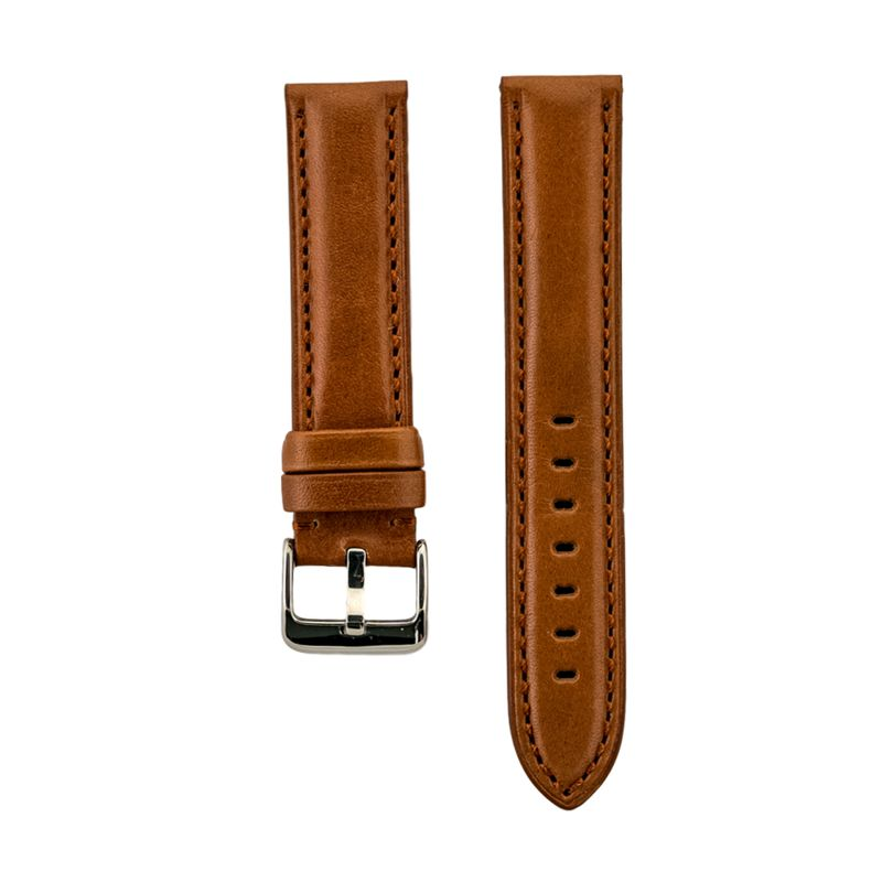 High Polished Tan Italian Leather Strap