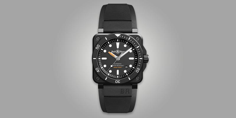Bell&Ross BR03-92 Diver Watch with black case.