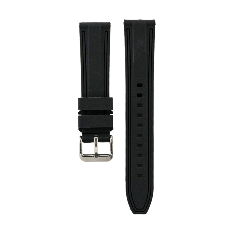 Dual Compression Silicone - Black Strap - Black Colored Lining