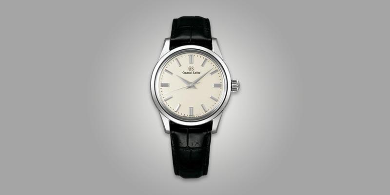 Grand Seiko White dial leather strap
