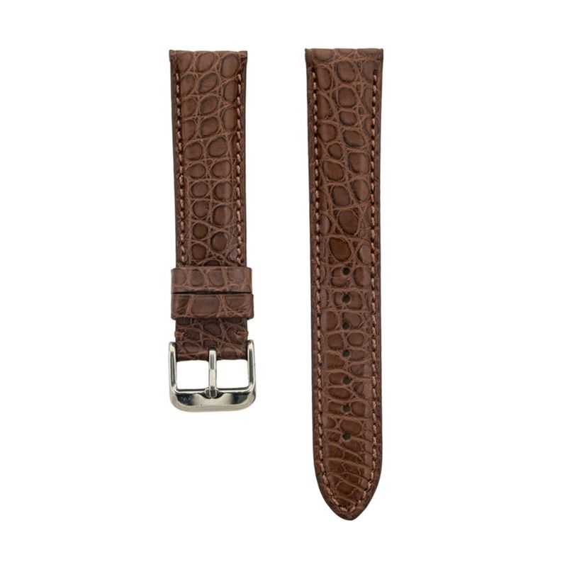 Genuine Brown Matte Alligator Strap