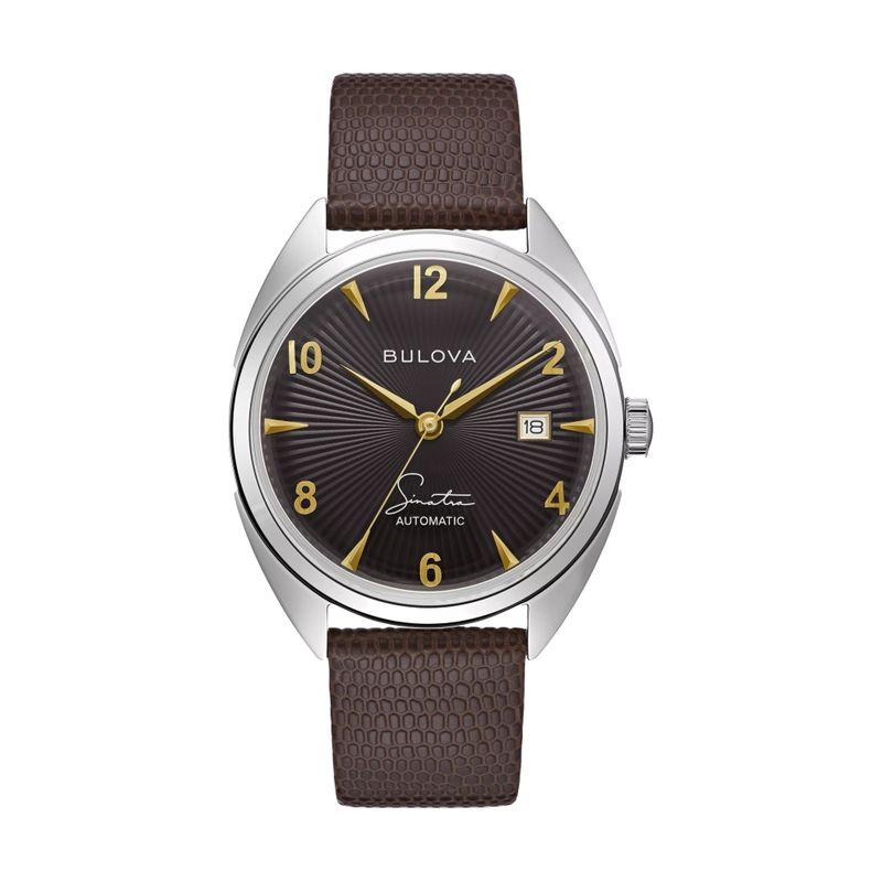 Fly Me To The Moon Black Dial Brown Strap