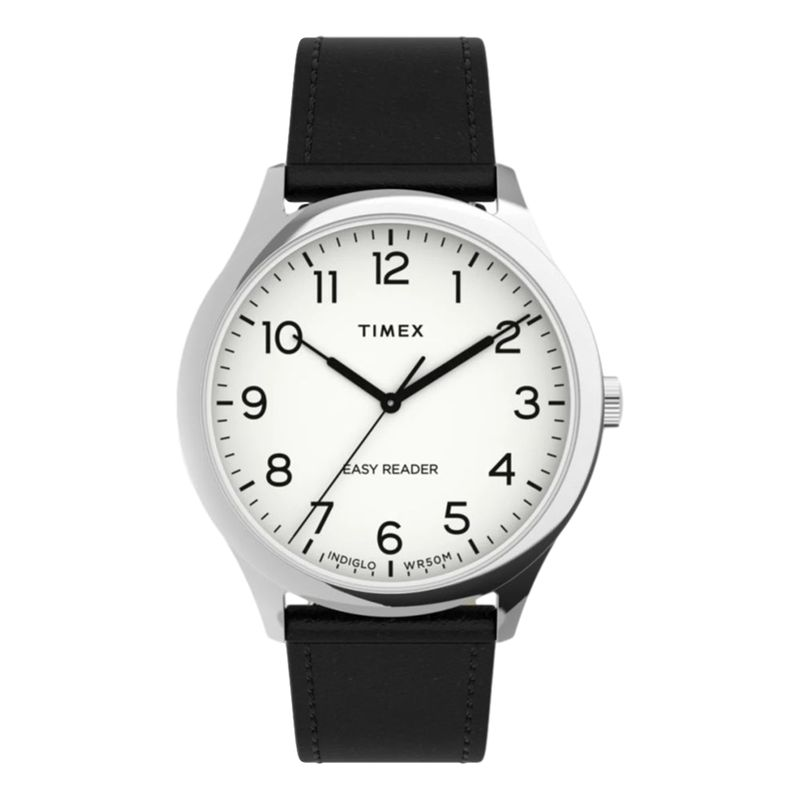 Easy Reader GEN1 40 Leather Strap Silver-Tone