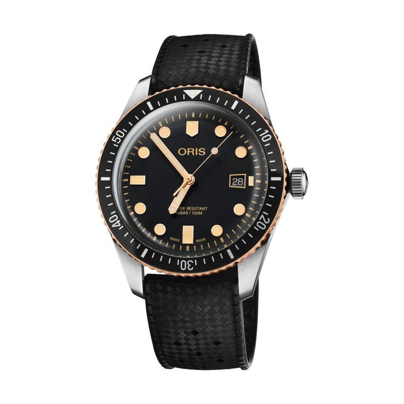 Divers Sixty-Five Steel/Bronze 42M Rubber
