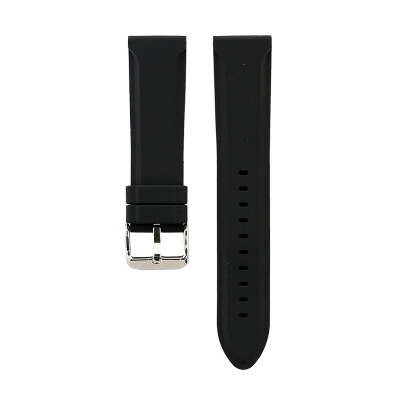 Black Genuine Silicone Strap