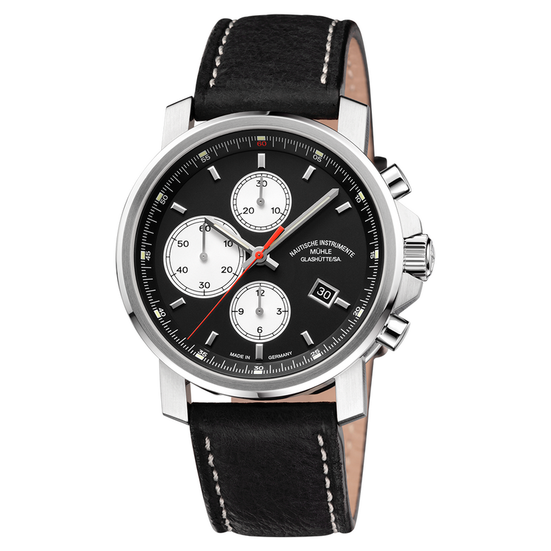 29er Chronograph Black Dial Leather Strap