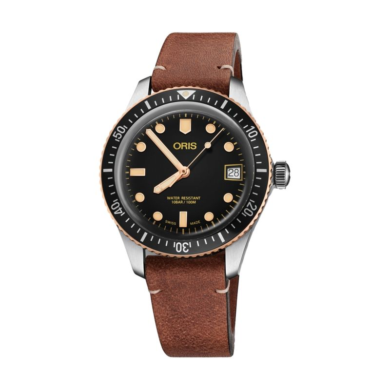Divers Sixty-Five Steel/Bronze 36M Leather