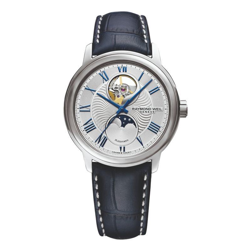 Maestro Open Aperture Moonphase Silver Dial