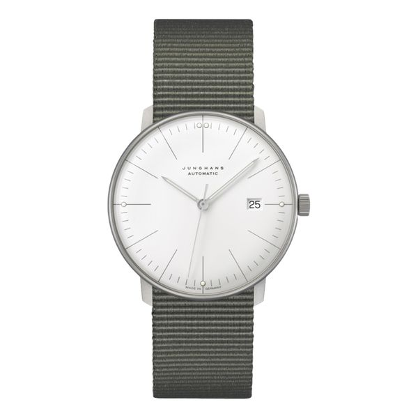 Max Bill Automatic 38mm Grey Textile Strap