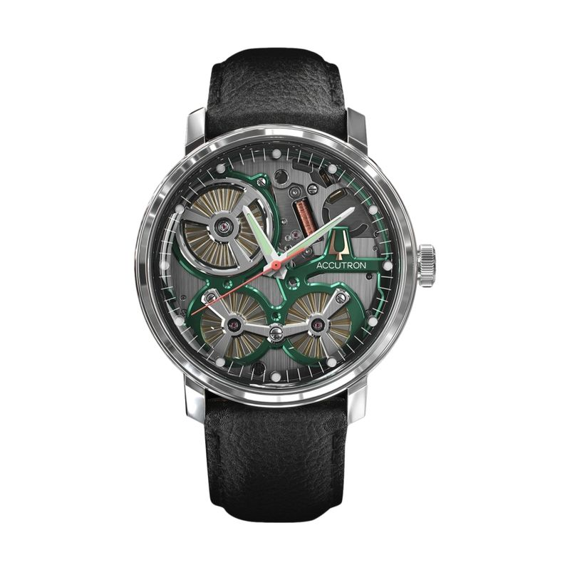 Spaceview 2020 Electrostatic Black Leather Strap