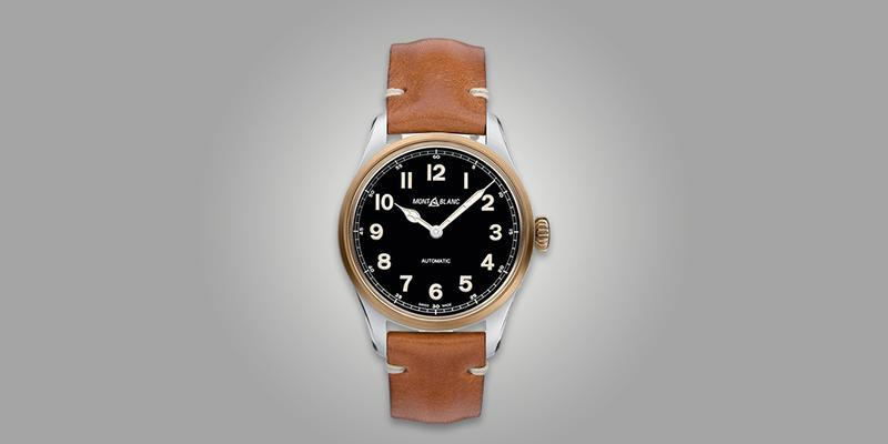 Montblanc 1858 Automatic on brown leather strap
