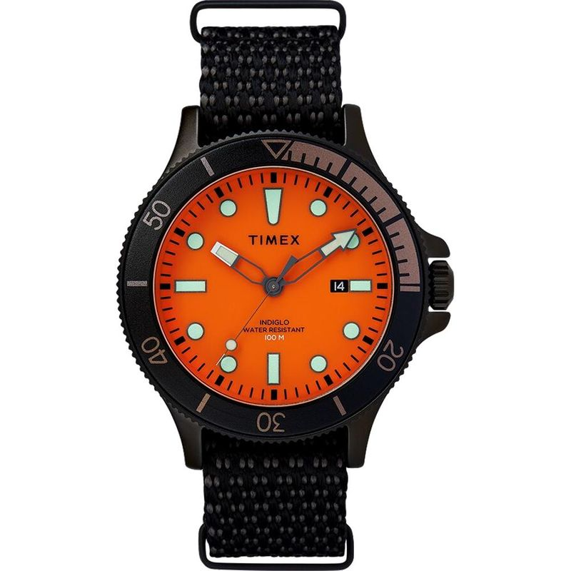 Allied Coastline 43mm Fabric Strap Watch