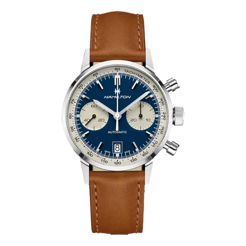 American Classic Intra-Matic Auto Chrono Blue Dial