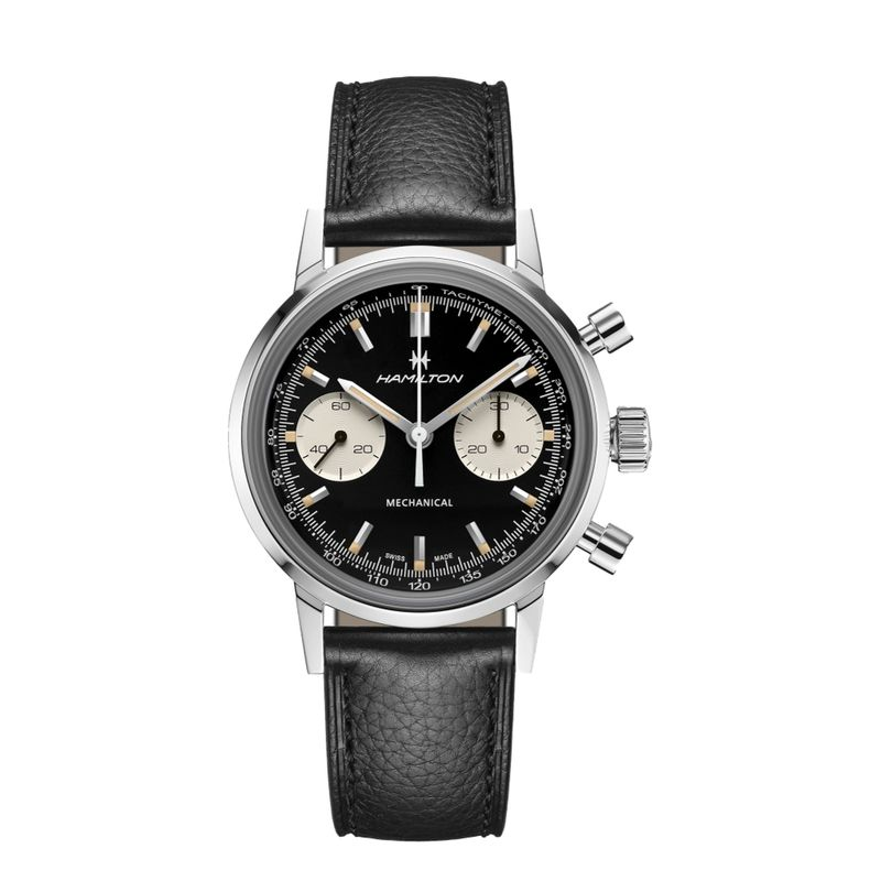 American Classic Intra-Matic Chronograph H Black Dial Black Strap