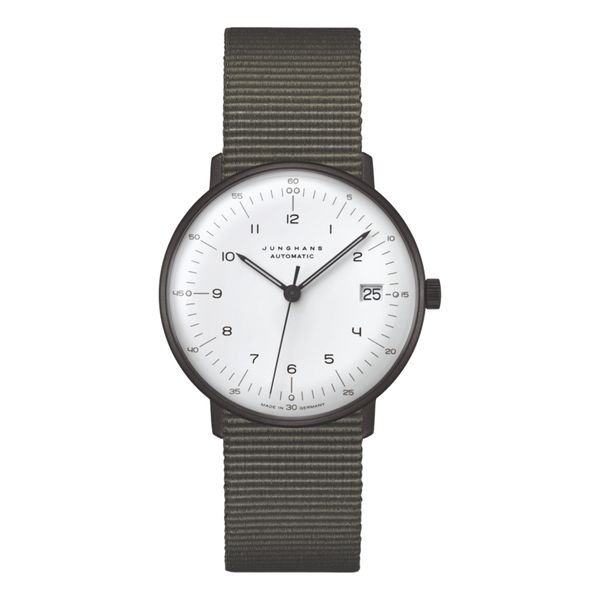 Max Bill Automatic 34mm Black Textile Strap